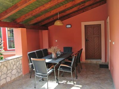 Photo for Holiday house with big roofed terrace with a grill and a view of the beautiful garden