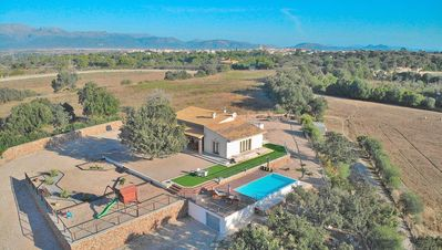 Photo for Son Butxaquí modern villa with pool with views of the countryside 215