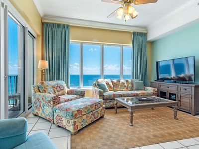 Photo for Regency Isle 1106 Penthouse-Beach Front View with Free Seasonal Beach Service