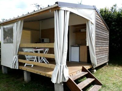 Photo for Camping Lake King bed **** - Cottage Toilé 3 Rooms 5 Persons without health