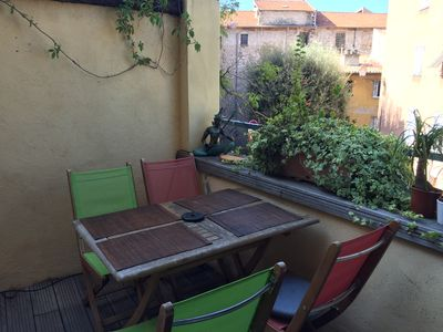 Photo for Beautiful studio in center of Nice, quiet place with lovely private roof!