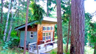 Photo for Salt Spring Acreage with 200 ft2 Sleeping Cabin + 400ft2 Camp Cabana across Lake