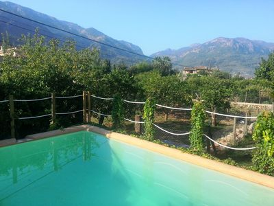 Photo for **SÒLLER** COTTAGE WITH COZY GARDEN AND POOL, STUNNING MOUNTAIN VIEWS.