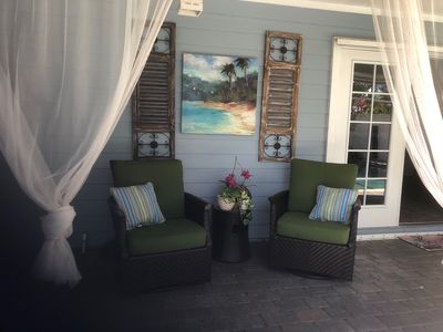 Photo for A Treasure Coast beach get-away with it's own entrance. (Pool/fire pit/patio)