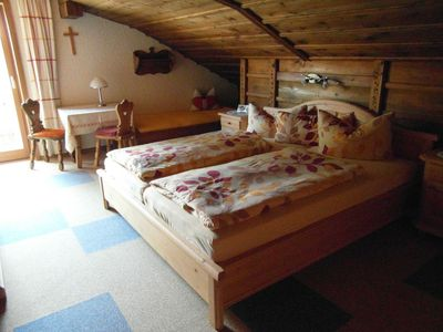 Photo for Double room 5 with balcony and possibility of extra bed 3. Person, with east view - Haus Ulli
