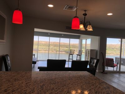 unobstructed view of river from your kitchen