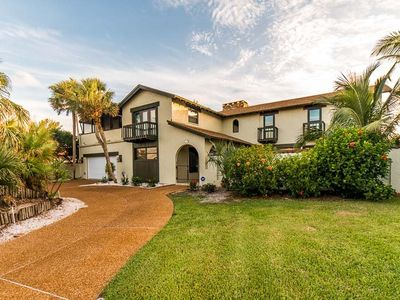Photo for A spectaular 5 bedroom 5 bath gulf front home offers the ulitmate coastal living. Steps away from the beach