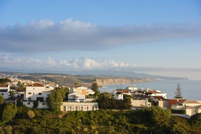 View from the Balcony, Sintra, Ericeira Village and Sea view...Sunset is MAGIC