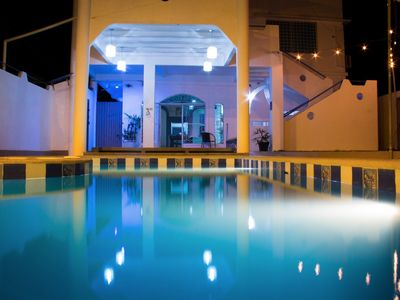 Photo for Large house with a pool and jacuzzi, close to the beach