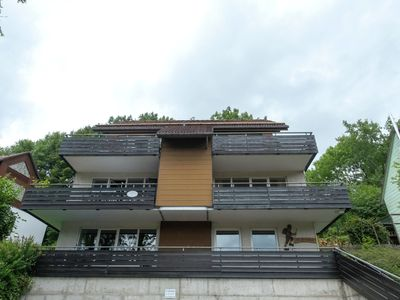 Photo for Bright and nicely furnished flat in the Harz with a large, covered balcony