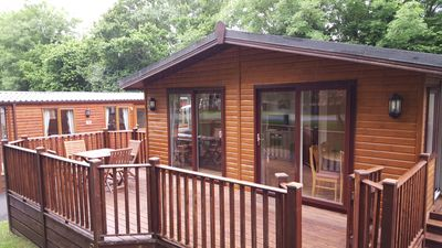 Photo for Finlake, 3 Bedroom, Pet Friendly Lodge with Hot Tub.