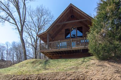 Enjoy an amazing view from Private Affair's cabin in the great Smoky Mountains!