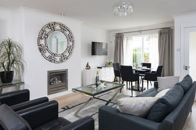 Beautifully styled living and dining area