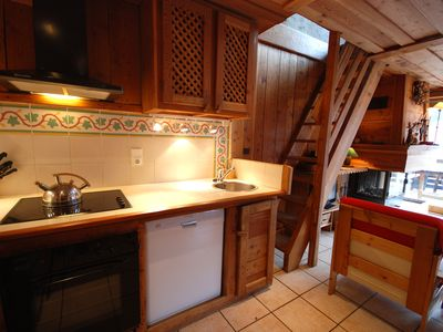 """Photo for Duplex """"the larch"""" in ancient chalet facing the ski lifts 400 puts"""