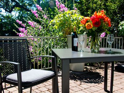 Enjoy Outdoor Dining Or Sip A Glass Of Wine On The Southern Patio