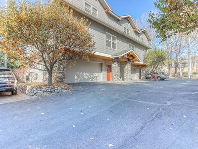 Photo for Peaceful, dog-friendly townhome w/private hot tub & gas grill - walk to Ketchum!