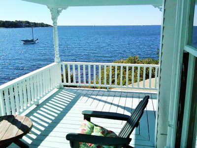 Photo for Dramatic Harbor and Ocean views from this fun summer cottage on the waterfront!