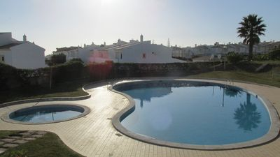 Photo for T2 Cond. Private, Jar. da Oura, A/C. Swimming pools, garage and beach  500m