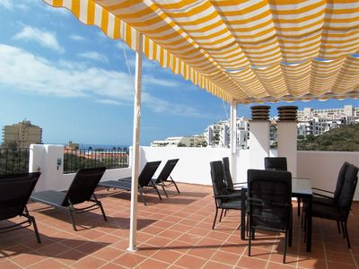 Photo for Fantastic Penthouse with Huge Panoramic Sea View Rooftop Terrace BBQ  A/C  Wifi