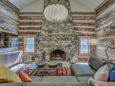 Photo for Hand Hewn Log Cabin Newly Renovated, rustic-modern design