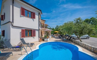 Photo for Apartment with sea view, sauna, whirlpool, pool, WiFi, air conditioning and BBQ area