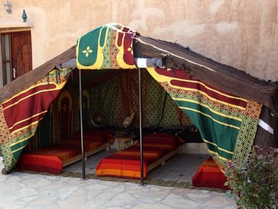 Photo for TENT BERBERE 3 PLACES, BATHROOM COMMON
