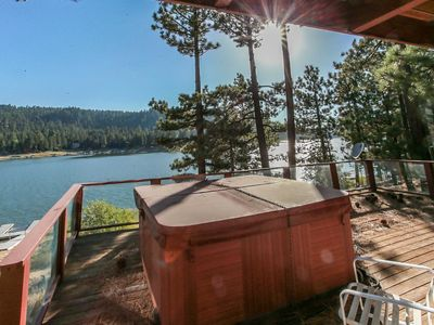 Photo for *LAKEFRONT PARADISE CABIN~Dock~Hot Tub~Pool Table~