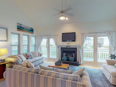 Photo for NEW LISTING!Elegant home w/elevated deck & shared pool-great water/surf views!