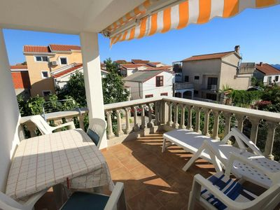 Photo for One bedroom apartment with terrace and sea view Ždrelac, Pašman (A-697-b)