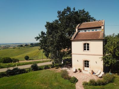 Photo for Outstanding luxury renovated old tower on large domaine with pool