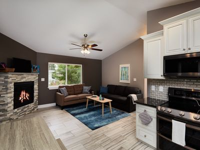 Photo for Treetop House-NEW! Central AC, 3 Car Garage - Walk to Downtown, OTC, Coffee Shop