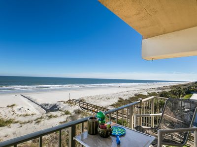 Photo for AMAZING ocean views from this southeast corner 4th floor condo (& elevator)