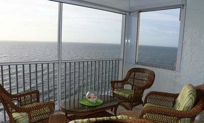Photo for Beach front, magical sunsets, surf sounds and spectacular gulf view from balcony