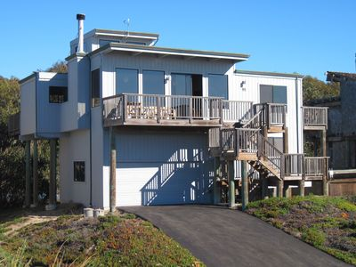 A picture of our house taken from the beach access.