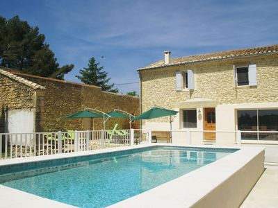 Photo for Beautiful holiday home with enclosed, private swimming pool near the village of Aubais.