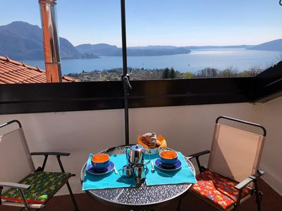 Photo for Edith apartment in panoramic postion with lake view over Verbania