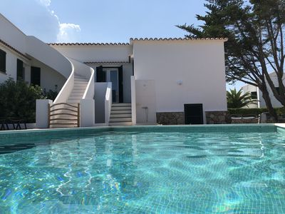 Photo for Menorca, large house, quiet, beautiful pool and Mediterranean garden.