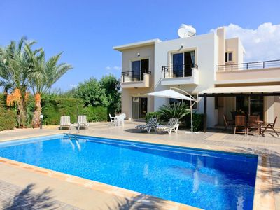 Photo for Villa Themis: Large Private Pool, Sea Views, A/C, WiFi