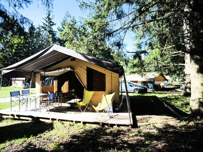 Photo for Camping Huttopia Millau *** - Sweet Plus Tent 3 Rooms 5 People