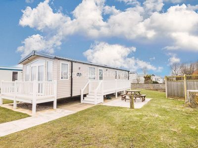 Photo for Luxury caravan for hire at Haven Hopton park in Norfolk.2 night stays ref 80041G