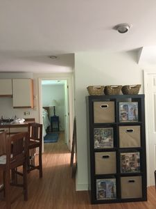 Large Living Area with fully stocked Kitchen