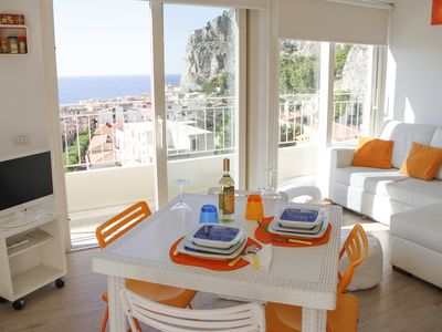 Photo for Delightful central penthouse in Cefalù with enchanting and panoramic sea view