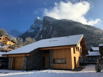 Photo for Luxury chalet Samoëns 14p, near ski / village center