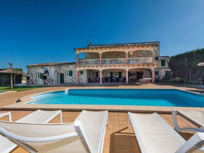 Photo for Stunning private villa for 18 guests with A/C, private pool, WIFI, TV, balcony and parking