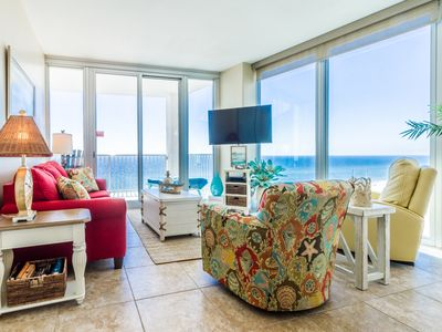 Photo for View the Sunset from your Living room or Balcony!! Corner Unit-Gulf Shores!