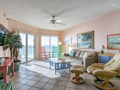 Photo for Gulf Front Emerald Isle 2 Bedroom! Beautiful Views of Beach/Gulf ~ Steps from the Beach!
