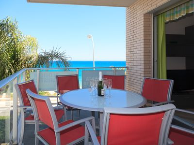 Photo for Apartment at 20m beach with swimming pool & parking