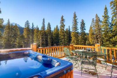 Enjoy the hot tub or lunch from front deck