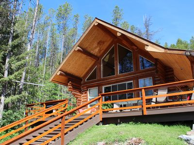 Photo for West Glacier Log Cabin, Sleeps 4, with Lake Views