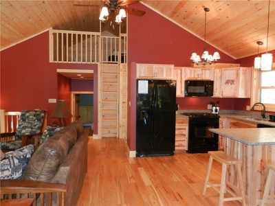 Open Living/Kitchen/Dining